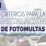 Criterios para la instalación de Fotomultas